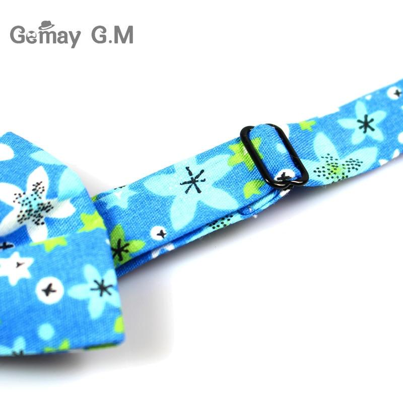 Klassinen kukkakuvioinen solmio miehille tulosta puuvilla Bowtie - Vaatetustarvikkeet - Valokuva 6