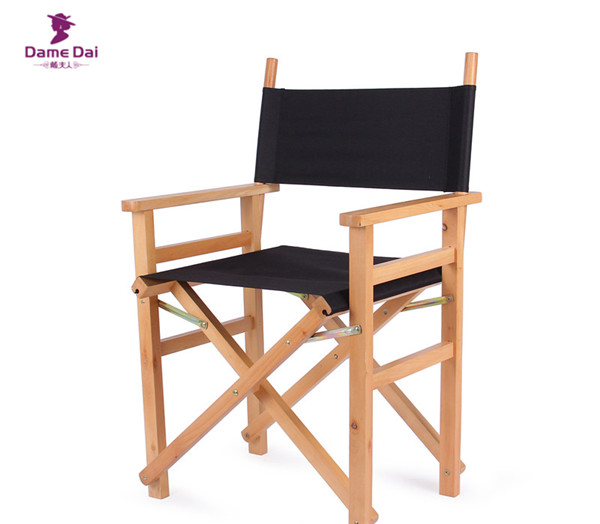 Solid Beech Wood Director Chair Natural/Black Frame With Cavans Garden Furniture  Wooden Portable Director Beach Folding Chair  In Garden Chairs From ...