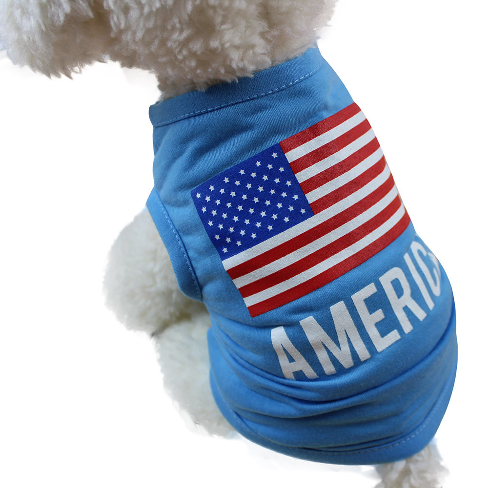 Dog Clothes For Small Dogs Pet Products Clothing American Flag Cute Pet Vest Clothing Small Puppy Costume Summer Apparel