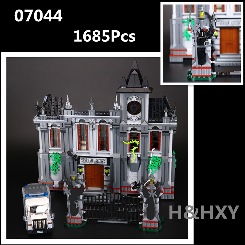IN STOCK H&HXY 07044 1685Pcs Super Hero Series The Batman Asylums Set LEPIN Building Blocks Bricks Toys Model Gift 10937 цена и фото