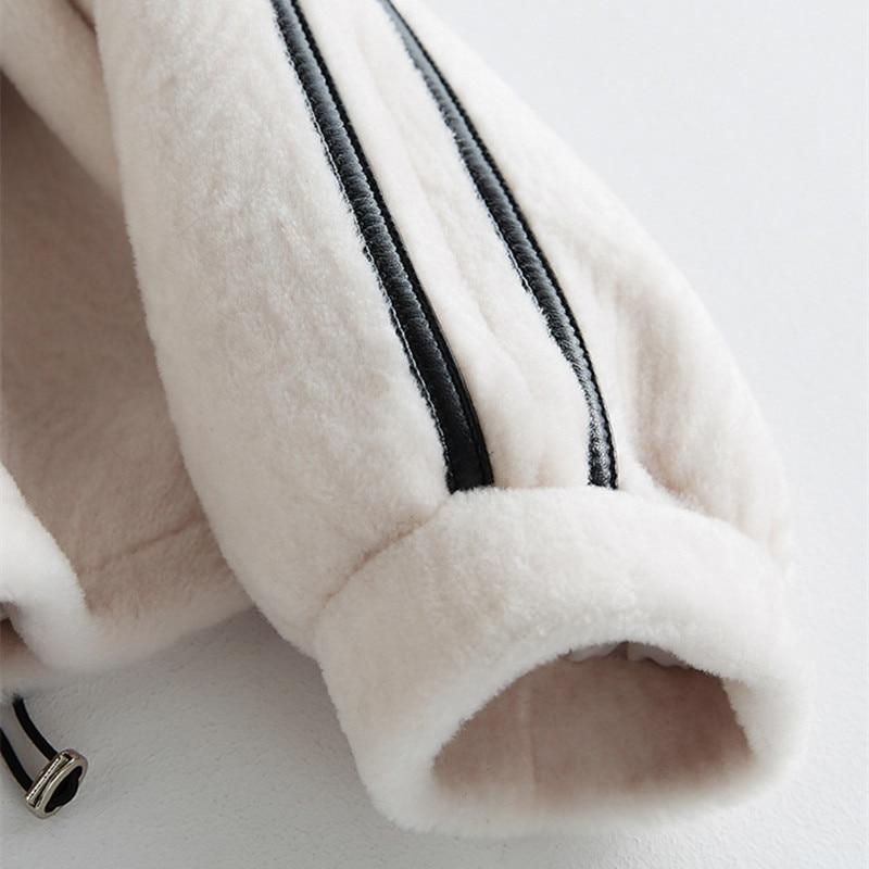 Hiver Longues Herbe 2018 Cuir À Creamy Nouvelle white Mode Des Tonte De Femmes Épais Manches Moutons En Capuche Chandail Casual Manteau Laine Jacketlb235 Chaud 6YnrdqYwW