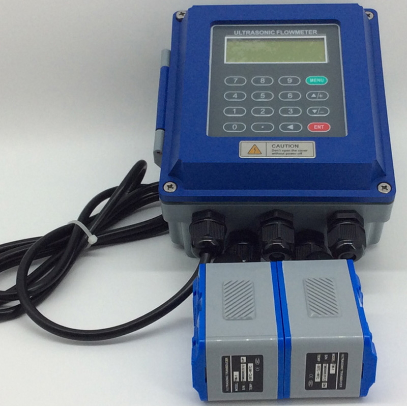 Medidor de vazão ultrassônico TUF-2000B TM-1 DN50mm-DN700mm Transdutor fluxômetro líquido fixado na parede tipo de Protocolo ModBus