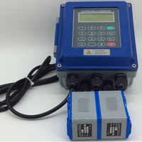 Ultrasonic flow meter TUF-2000B TM-1 Transducer DN50mm-DN700mm liquid flowmeter wall mounted type ModBus Protocol
