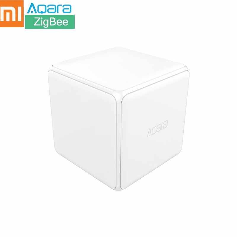 Xiaomi Aqara Mi Magic Cube Controller Zigbee Version Support Upgrade Gateway Smart Home Mijia Device Wireless MiHome APP Control