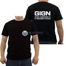 Francia de élite de las fuerzas de policía de la Unidad de asalto GIGN Gendarmería camiseta de los hombres camiseta de Hip Hop camisetas Top Harajuku Streetwear