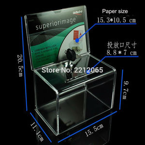 Image 3 - Counter Acrylic Donation Collection Box,Perspex Charity Fundraising Box with Keylock for Church,non profitable Group,Charity