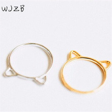 Fashion Silver plated ring  jewelry lovely cat ear rings for men and women