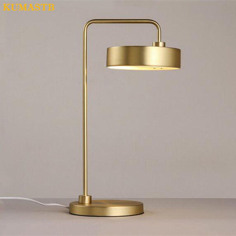 Modern Minimalist Rose Gold Black Table Lamp Office Study Bedside Lamp  Hotel Creative Plated Gold Table Light  In LED Table Lamps From Lights U0026  Lighting On ...