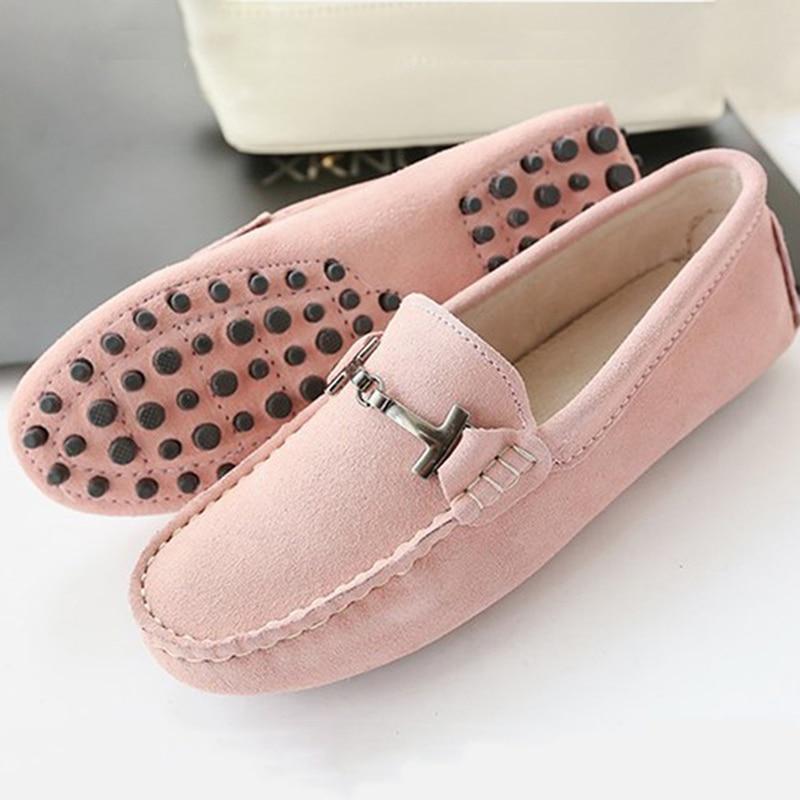 Zapatos de Las Mujeres 2017 Nuevas mujeres de la marca pisos de Cuero genuinos o
