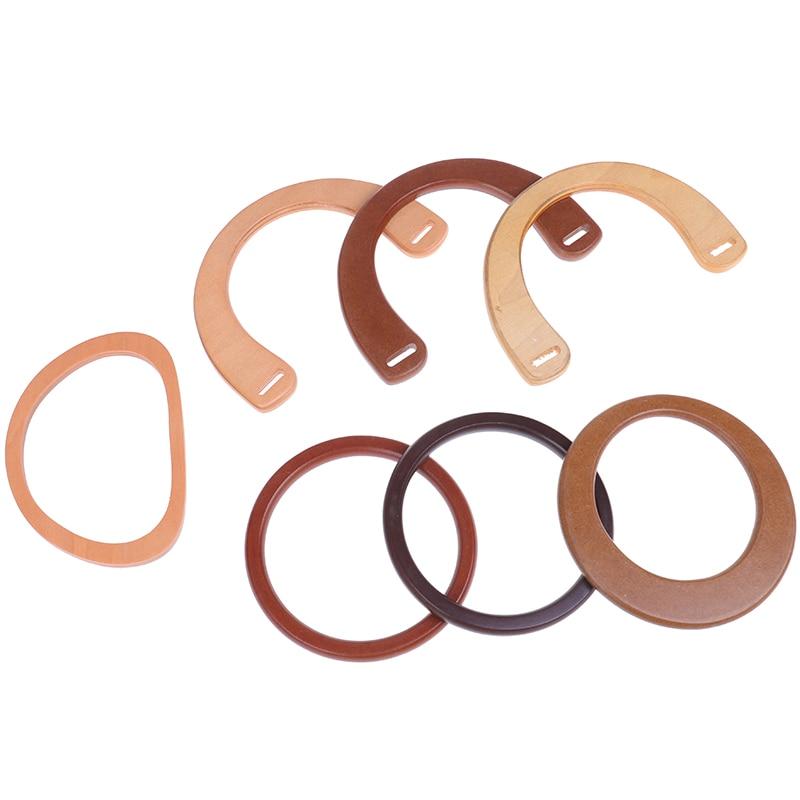 1PCS Wooden Resin Handle Replacement DIY Handbag Purse Frame Bag Accessories Tool