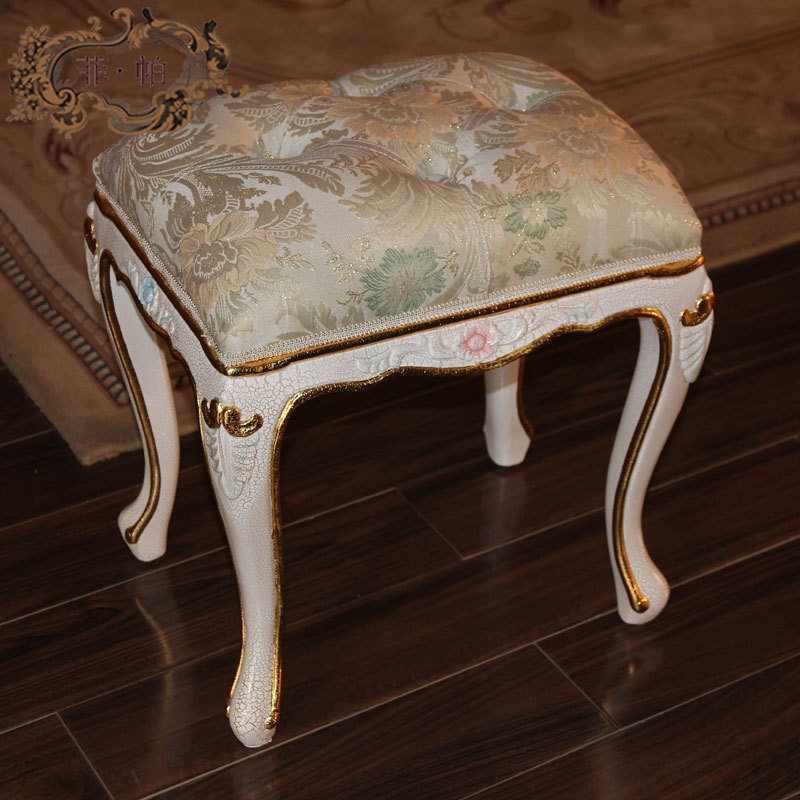 French provincial home furniture -china factory wholesale best price  baroque hand carved leaf gilding dressing stool kindergarten school furniture school furniture price list kids wholesale price with free shipment 50 chairs to vietnam