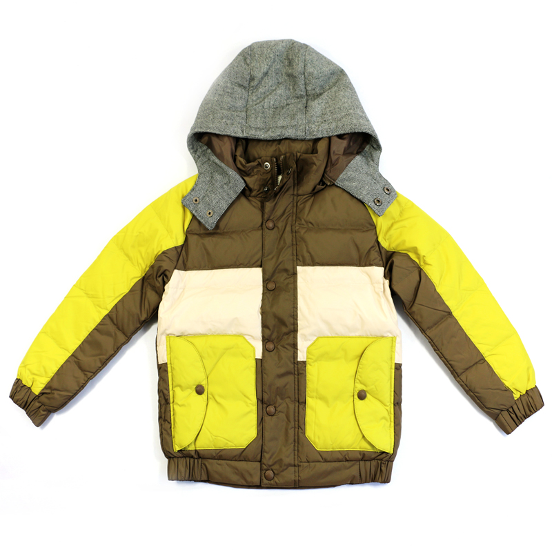 New outerwear boys down coat childrens winter thickening jackets long design down coat male child thickening