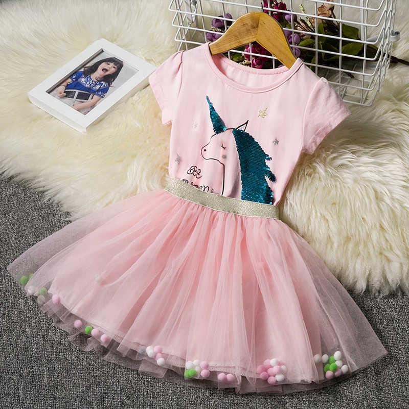 2f343da91 Fantasía unicornio vestido para niñas niños ropa de verano ropa de bebé chica  Tutu cumpleaños trajes
