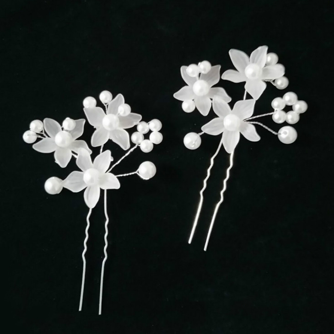 Hot Selling Women Fashion Hairpins Pearl Flower Hair Clips Beauty