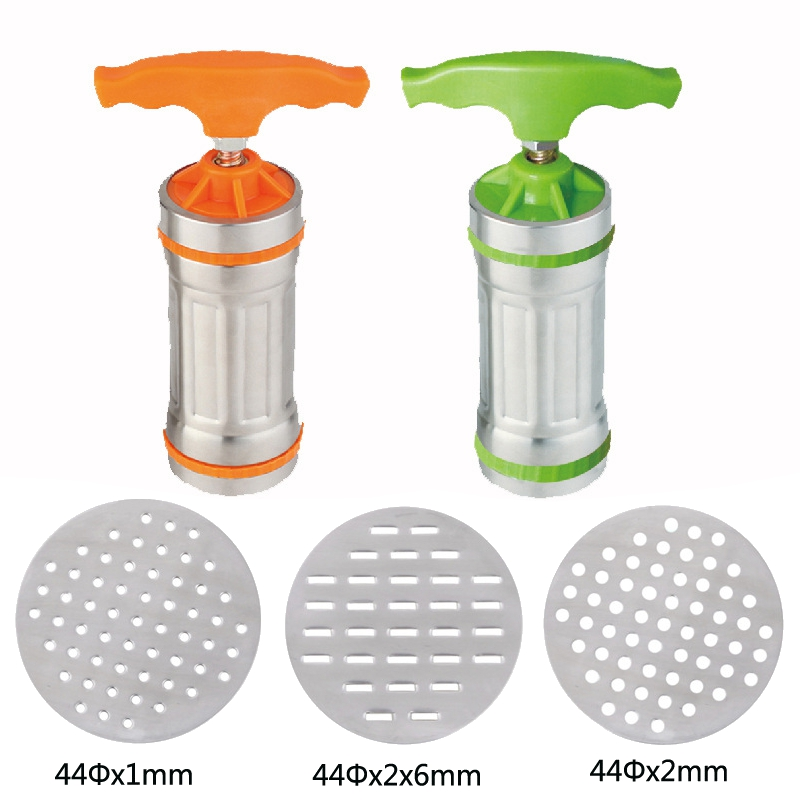 New Stainless Steel Maunal Pasta Machine Spaghetti Noodle Maker 3 Noodle Molds...
