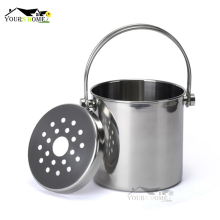 1.2L/2L/ 3L Premium Stainless Steel Ice Bucket with Strainer & Tong Bar Tools
