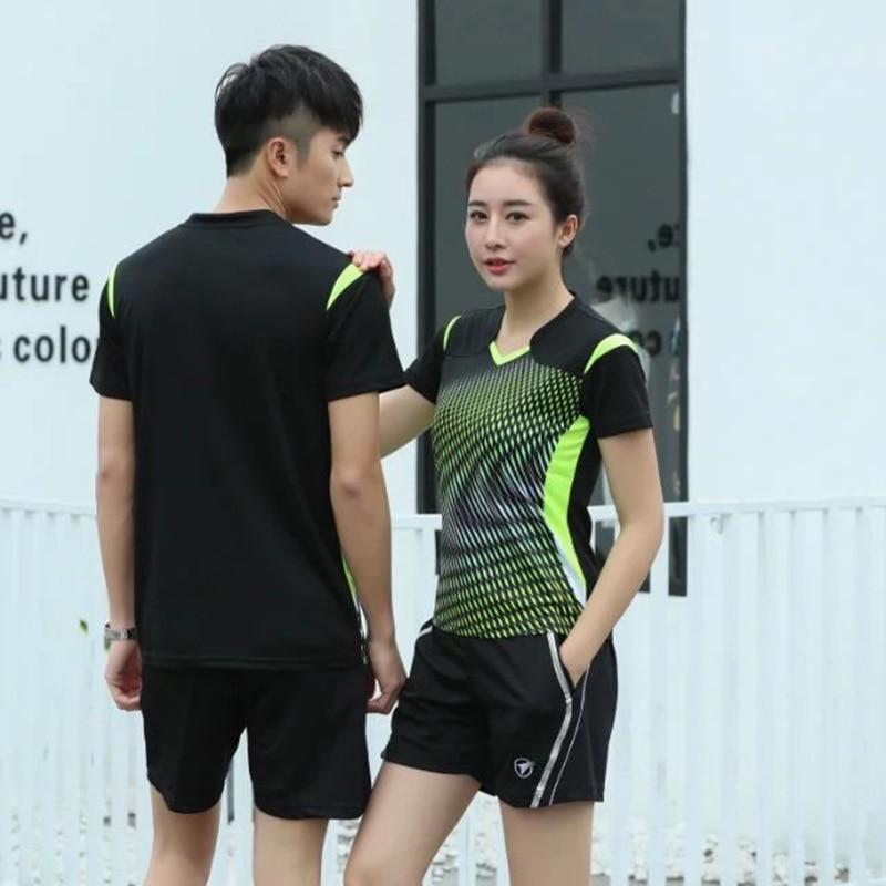 2 Stücke Koreanische Sportswear Frauen/herren Tennis Shirts + Shorts Badminton Uniformen Tischtennis Kleidung Atmungsaktiv Sport Set Ein Unverzichtbares SouveräNes Heilmittel FüR Zuhause