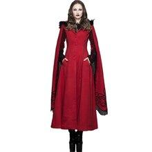 Devil Fashion Gothic Maxi Wool Warm Trench Coats Women Steampunk Long Aristocrat Winter Overcoats in 2017 Noble Tassel Greatcoat