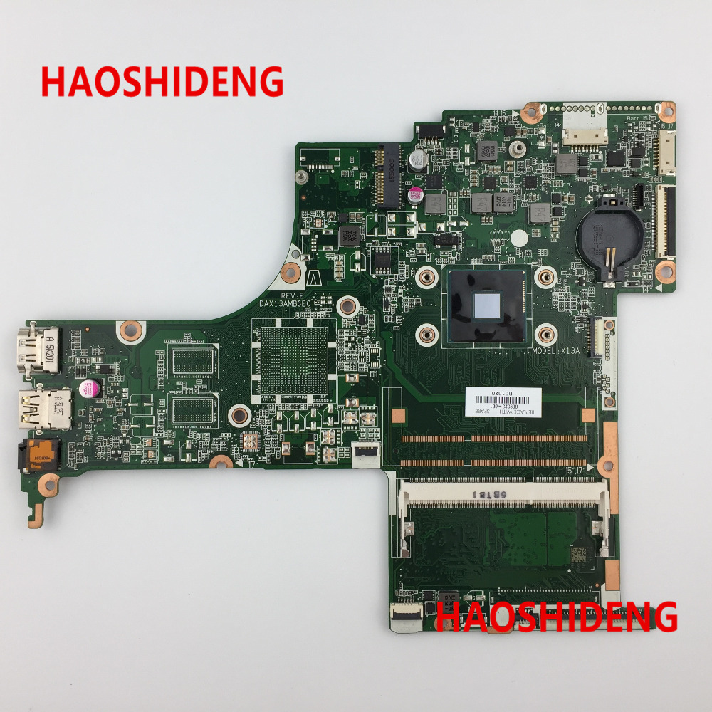 Free Shipping 809323-501 DAX13AMB6E0 X13A for HP PAVILION NOTEBOOK 17-G motherboard N3700 CPU.All functions 100% fully Tested !! 574680 001 1gb system board fit hp pavilion dv7 3089nr dv7 3000 series notebook pc motherboard 100% working