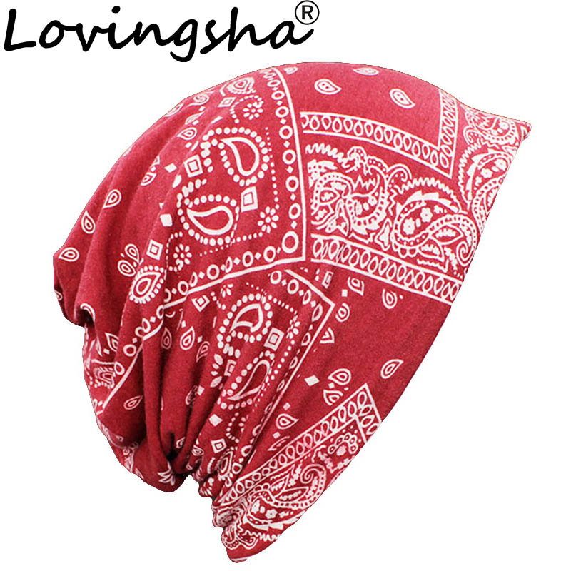 LOVINGSHA Autumn Winter Dual-use Vintage Design Hat For Ladies Thin Skullies And Beanies Women Scarf Girl Face Mask Female HT117