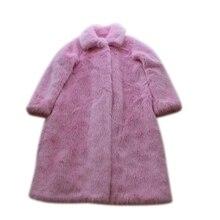 2018 New Style High-end Fashion Women Faux Fur Coat S2