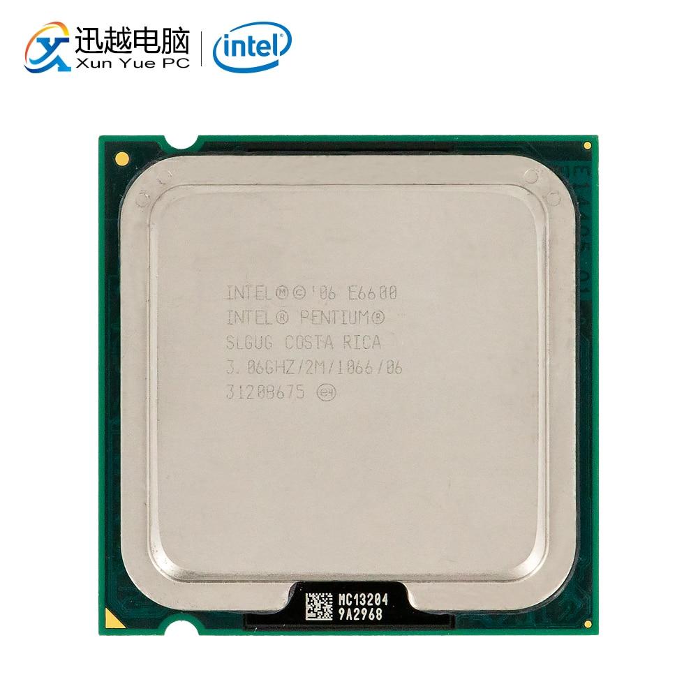 Intel Pentium Dual-Core E6600 Desktop Processor 3.06GHz 2MB Cache FSB 1066 LGA 775 6600 Used CPU