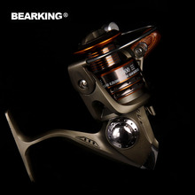 Bearking Brand 2017  Super Light Weight  Max Drag 12KG Carp Lure Fishing Reel Spinning Reel Gear Ratio 5.2:1 and 5.1:1 free ship