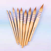 45RSQ high quality kolinsky hair wooden handle paint brushes artistic watercolor art painting brush pen for drawing