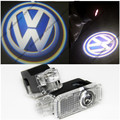 2 x led projector de luz de advertência do portão com vw emblema para volkswagen vw passat b5 b5.5