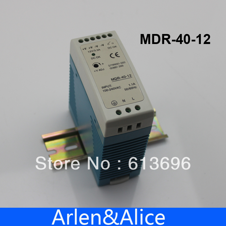 40W 12V MINI  Din Rail Single Output Switching power supply mdr 40 12 single output micro volume 12v ac dc 40w din rail 42w switching model power supply 12v