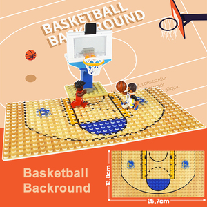 Image 4 - 32*16 Football Basketball Base Plate Compatible Legoe Figures Court Baseplate DIY Building Blocks Bricks Toys For Children Gifts