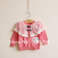 באביב ובסתיו סוודר בנות תינוק חמוד אופנה קוריאנית סגנון חדש די יפה בגדי ילדים מעיל סוודר