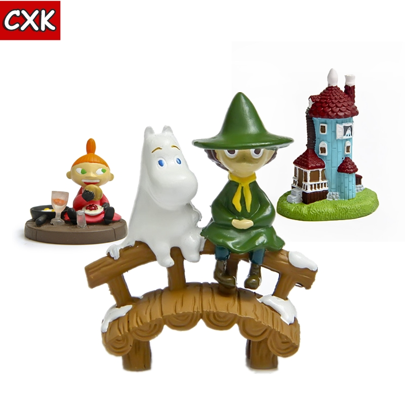 Moomin Valley Muumi Little My Resin Action Figure Collectible Home Yard Decor