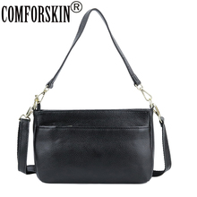 COMFORSKIN Luxury Handbags Women Bags Guaranteed 100% Cowhide Leather Messenger 2018 High Quality Cross- body