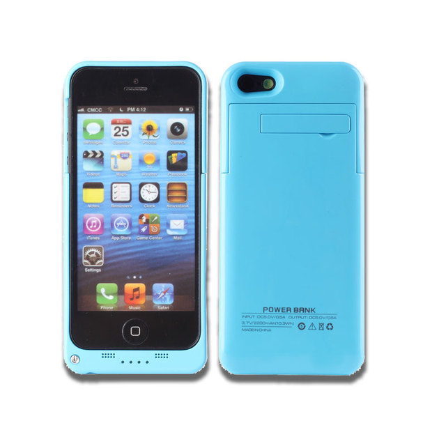 2200mah Rechargeable Case For Iphone 5 5s 5c Extended Battery For