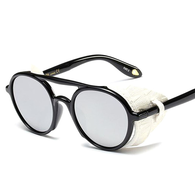 Exquisite Protective Round Shaped Photochromic Steampunk Sunglasses