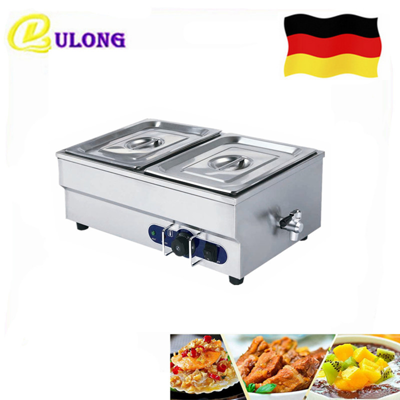 1 Piece 2 Pans Stainless Steel Bain Marie Mini Household Electric Food Warmer with Temperature Control Buffet Tool
