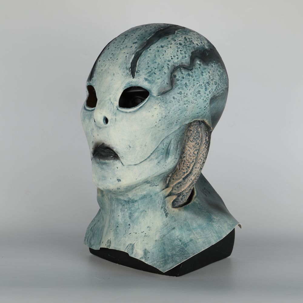 abe sapien Mask Anung Un Rama Hellboy Cosplay B.P.R.D. Helmet Fish Face Masks Funny Halloween Party Props (5)