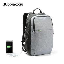 Men Waterproof Backpacks Work Bolsa Mochila for Laptop 15 Inch 15.6 Women Notebook Computer Bags Male USB School Rucksack Black
