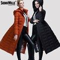 Espesado Con Capucha Down Jacket Para la Mujer de las mujeres Abrigo Largo Abrigo de Las Mujeres Maxi Largo Puffer Outwear Zip Abajo abrigos