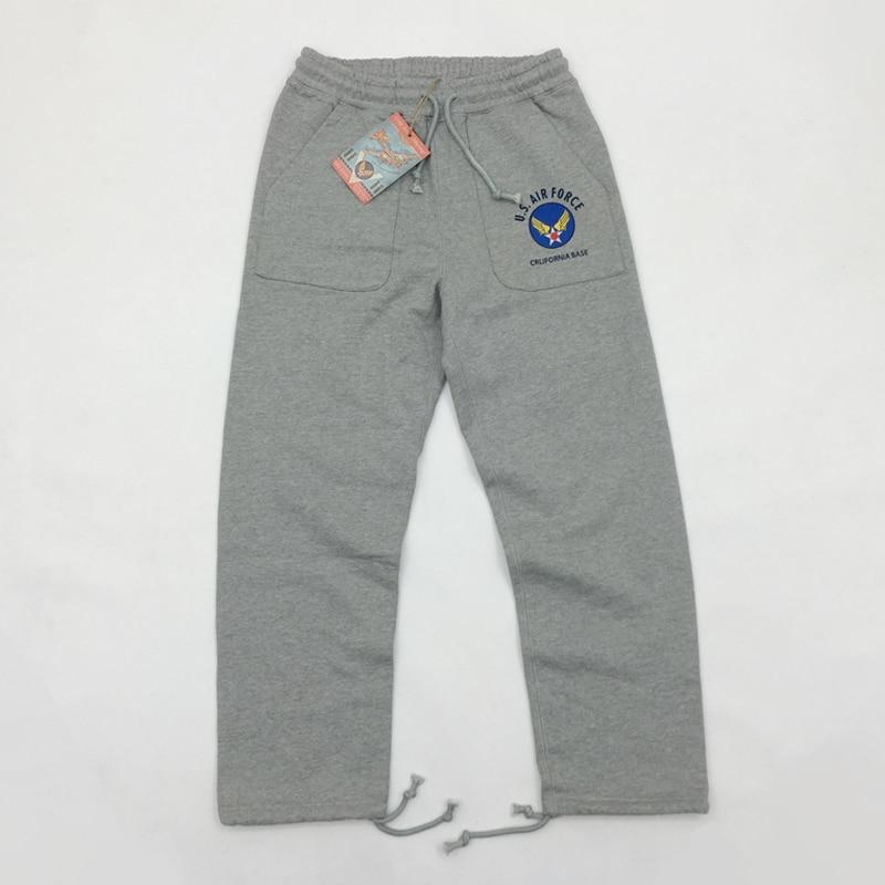BOB DONG Heavy 630g Sweatpants US Air Force California Base Logo Mens  Pants Military Casual Trousers Full Length W28 W36