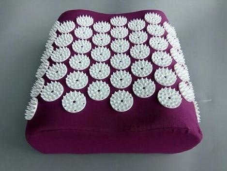 1 piece Acupuncture Pillow Yoga Neck Massager Head Neck Pain Relief Pillow Cushion Health Care Massager Pillow