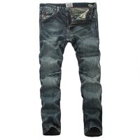 2017 Autumn Winter Newly Fashion Mens Jeans High Quality Slim Fit Stretch Denim Ripped Jeans Men