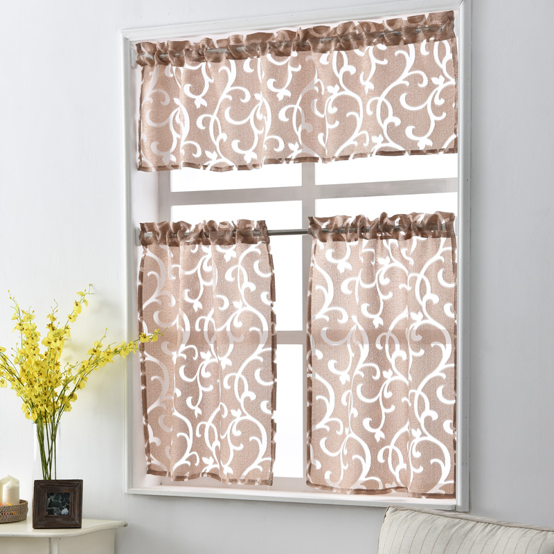 Free Shipping Jacquard Ready Luxury Curtains Style Decorative Short Door Treatments Modern Kitchen Curtain Made Door