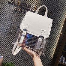 Прозрачный рюкзак из ПВХ, женская сумка для книг, яркий прозрачный уличный женский рюкзак для путешествий, сумочка, кристальная пляжная сумка, портативные женские сумки