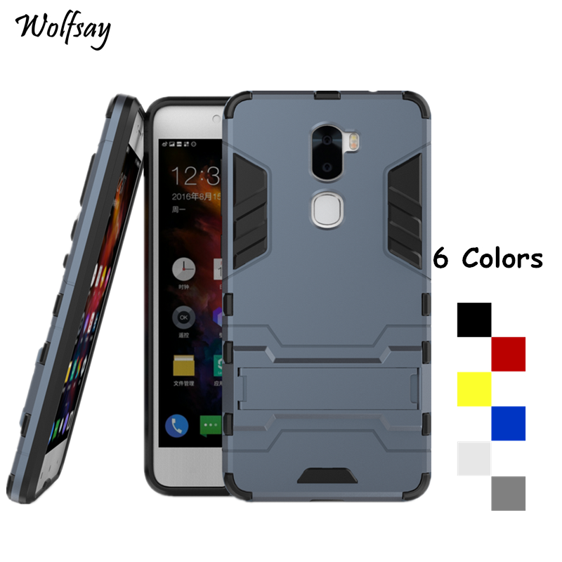 "Wolfsay Cover Leeco Cool 1 Case LeRee Le 3 Case 5.5"" Shockproof Robot Armor Silicone Phone Case sFor Leeco Cool 1 Coolpad Cool1"