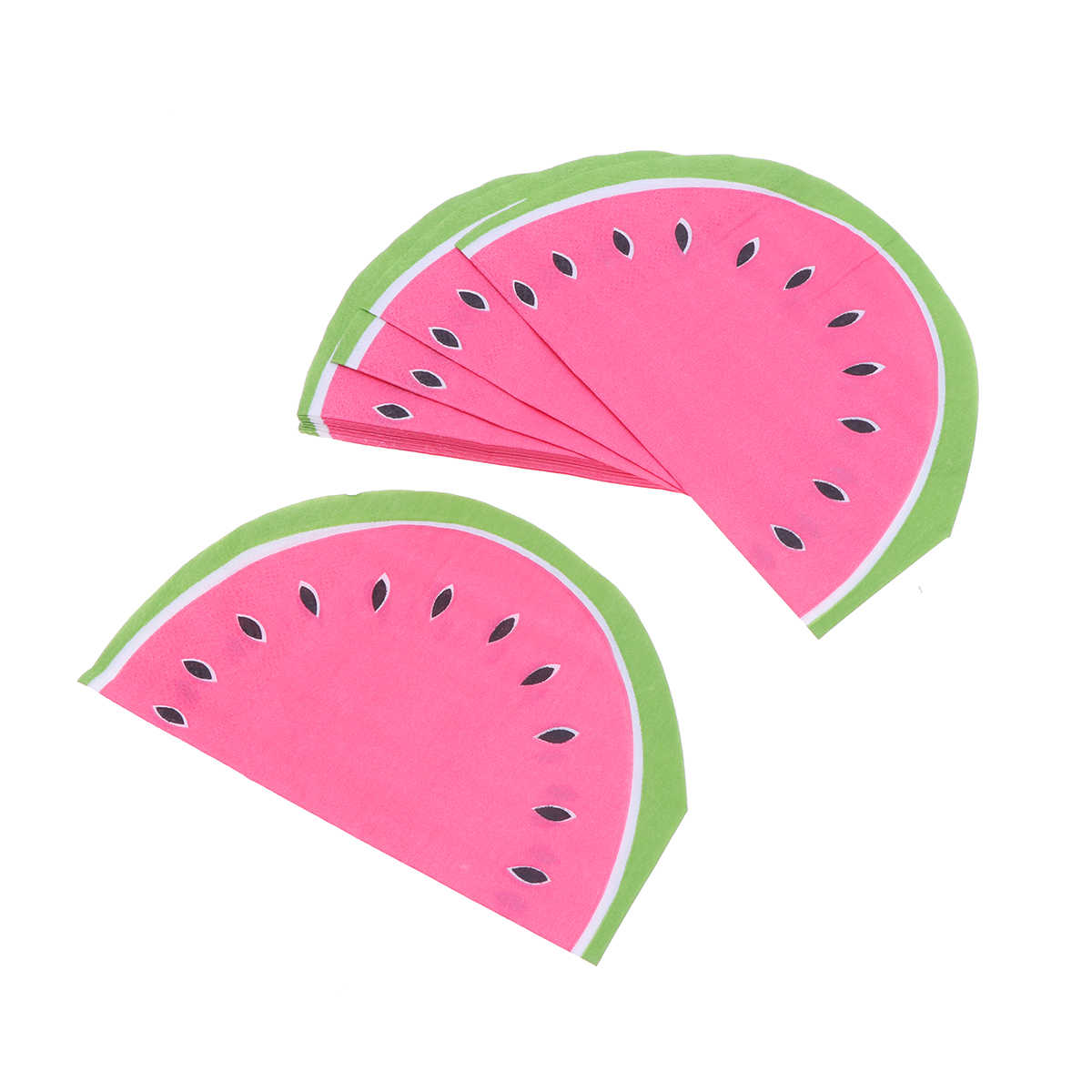 20pcs Fruit Watermelon Disposable Paper Napkins for Cocktail Party Tableware Home Bar BBQ Serveware
