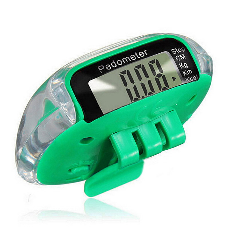 6Colors Available Calorie Calculation Counter LCD Multifunction Pedometers Step Count Walking Step Distance Health