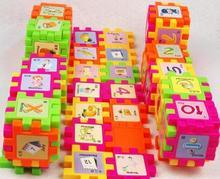 68pcs font b blocks b font infant children intellectual jigsaw building baby early learning toy plastic