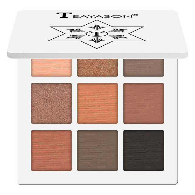 New 9 Colors Glitter Eyeshadow Makeup Pallete Matte Eye shadow Palette Shimmer Diamond Eyeshadow Powder Pigment Cosmetics 5